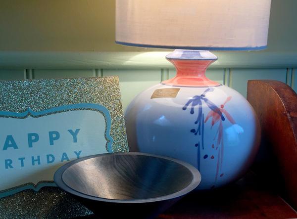 Lamp: Louis Mulcahy, Bowl: Roger Bennett