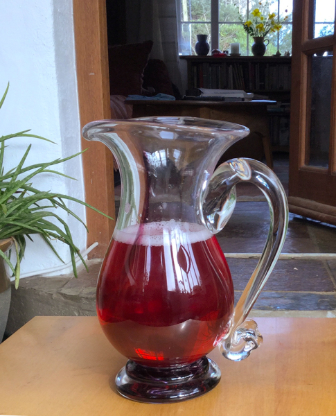 Jerpoint Glass Jug: full of Jane's own blackcurrant cordial!