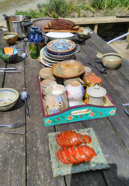 Lunch time: Rossmore (Cork Potters' workshop day)