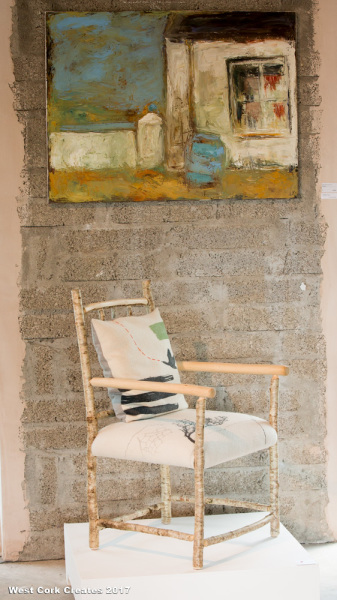 Alison Ospina (chair) Christine There (painting)