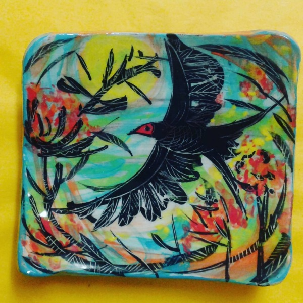 Bird Dish by Etain Hickey