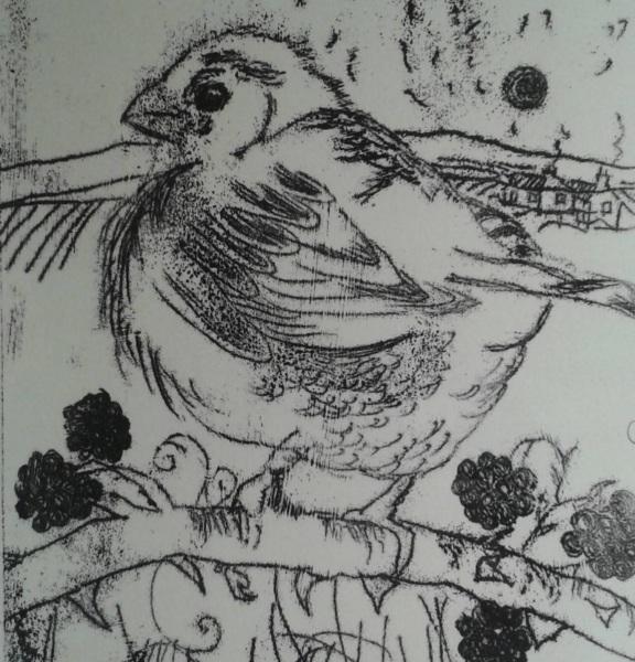 Mono print by Eadaoin Harding Kemp