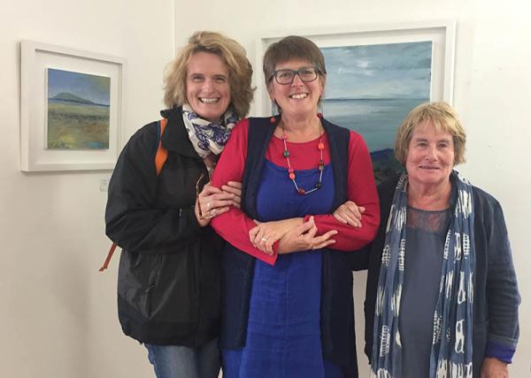 Hilary (editor), Jo Ashby (landscape artist) & friend Mary