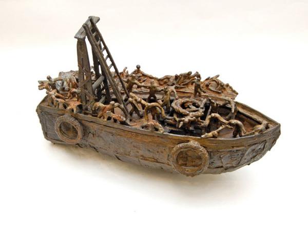 john behan kennys galway irish craft making Libyan Refugee Boat