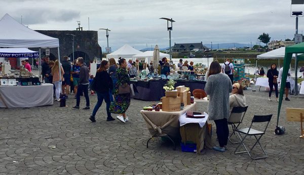 View of Market at Spanish Arch Galway