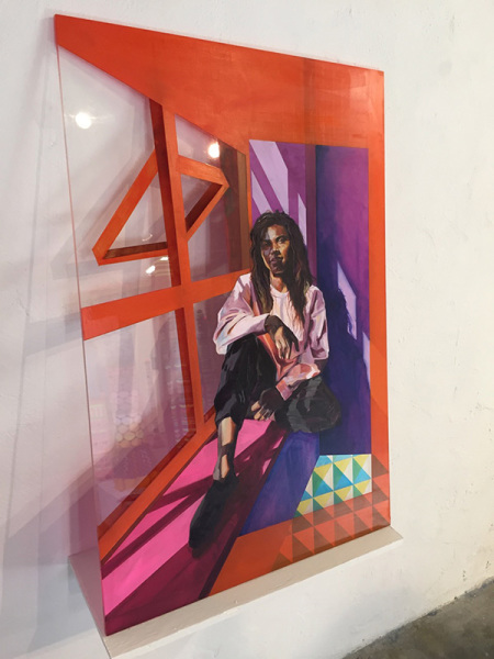 Plane Potty Exhibition September 2018 Peter Bradley Laura Angell curated by Stephan Roche textiles artist irish making painter