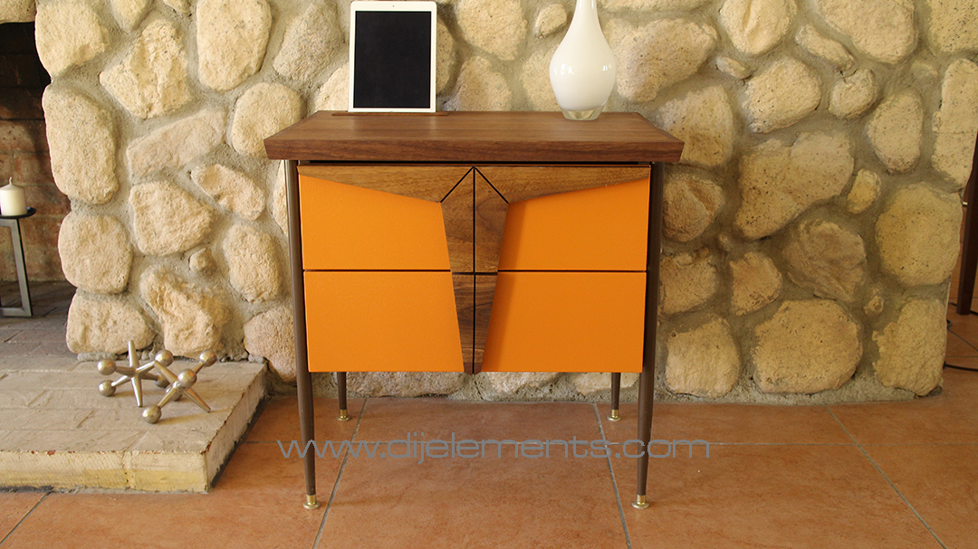 Midcentury Modern Furniture, Nightstand, End Table, Walnut