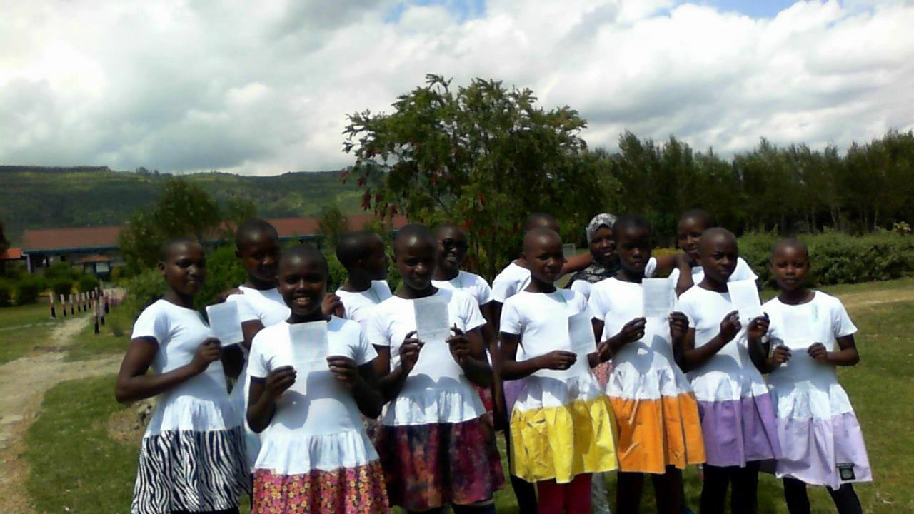 Young Girls at Light of Hope School in Kenya modeling my dresses