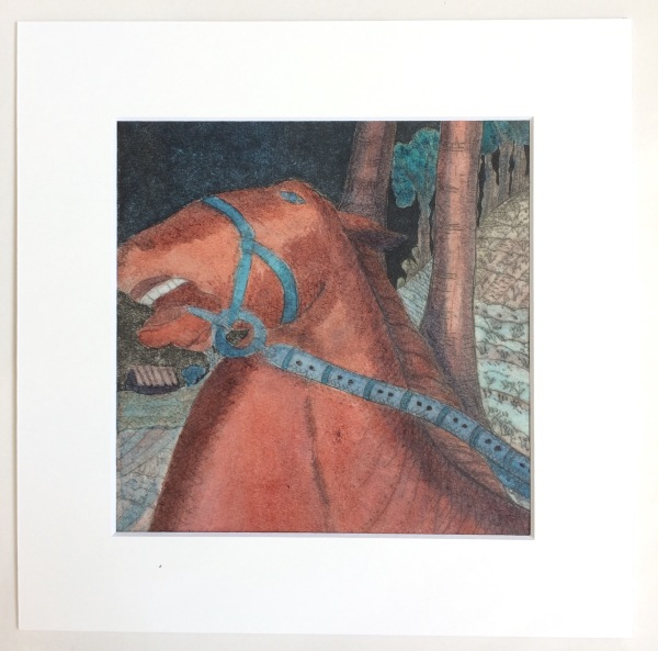 Hand painted Medieval Horse