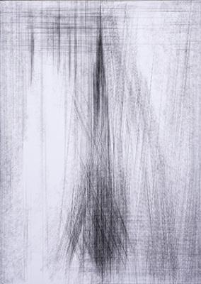 Pamela Radino, fluire Esistenziale III,  Ink on paper, 2nd Prize 2015 Biennale