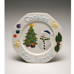 Snowman Cookie Plate