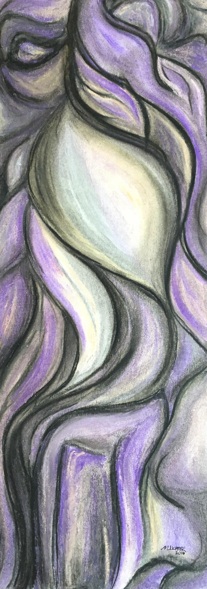 Brevity, acrylic on canvas, pastel, original by Artist Mindy Lichter.  MLICHTER fINE ART dESIGN.