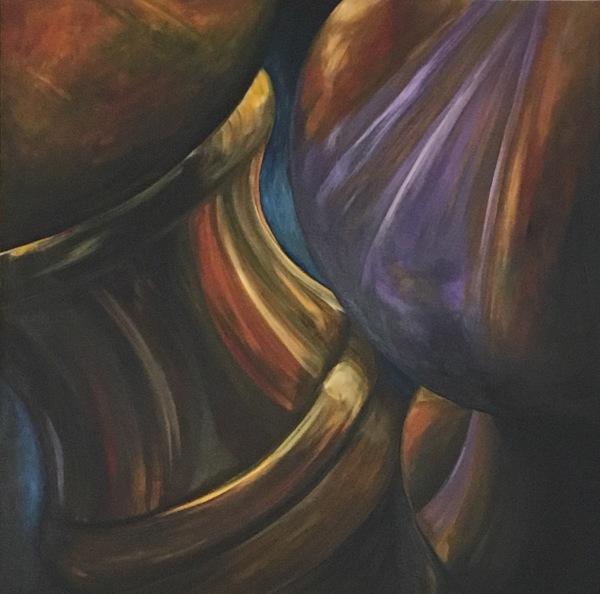 Drop Out, acrylic on canvas, original by Artist Mindy Lichter.  MLICHTER fINE ART dESIGN.