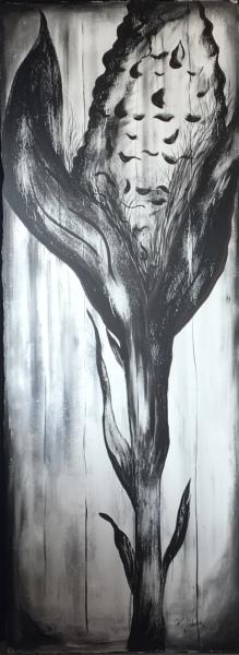 Iowa, acrylic on canvas, original by Artist Mindy Lichter.  MLICHTER fINE ART dESIGN.