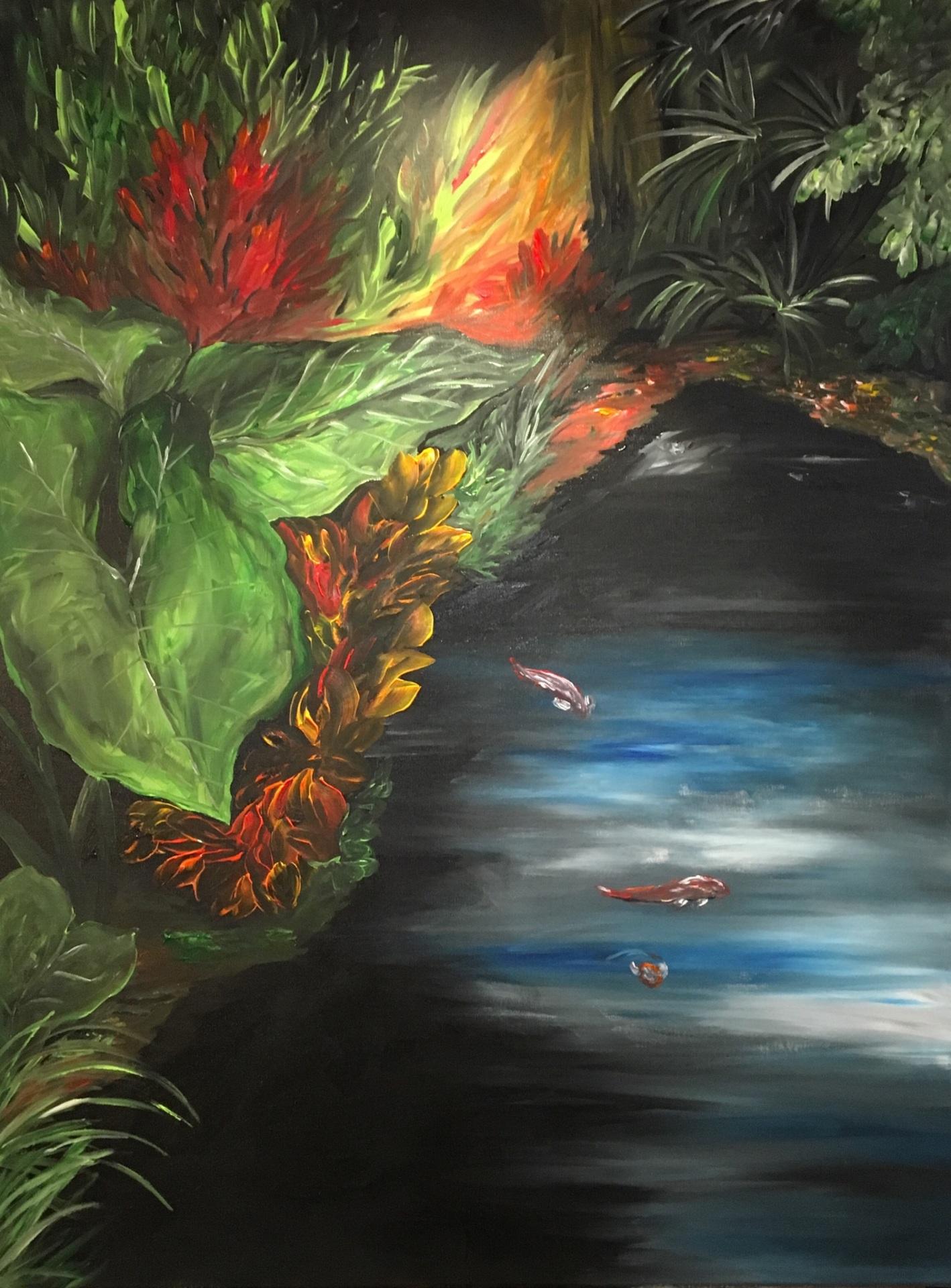 Sanctuary, acrylic on canvas, original by Artist Mindy Lichter.  MLICHTER fINE ART dESIGN.