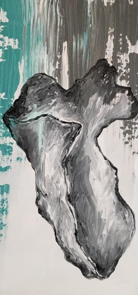Washed Up, acrylic on canvas, original by Artist Mindy Lichter.  MLICHTER fINE ART dESIGN.