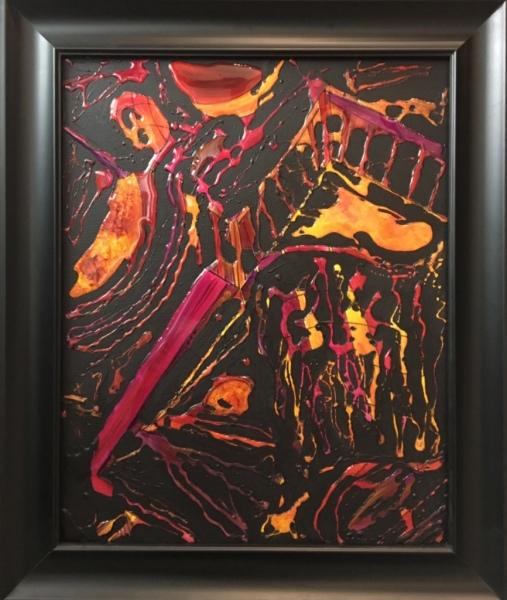Fragments, acrylic on canvas, original by Artist Mindy Lichter.  MLICHTER fINE ART dESIGN.