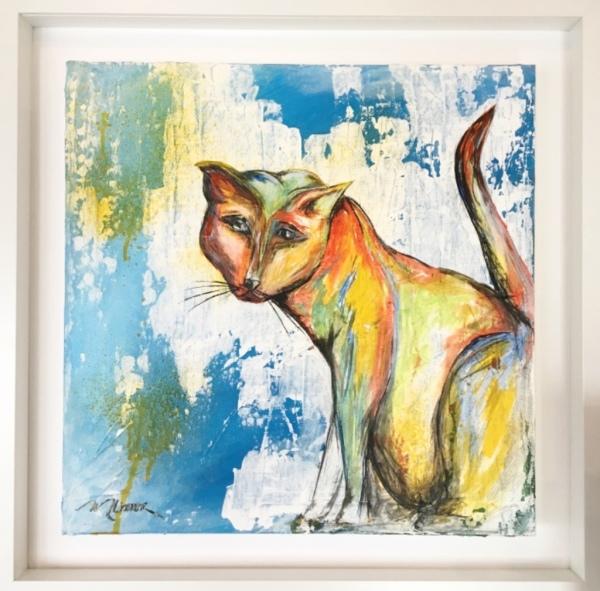 Andromeda, Dromey, acrylic on canvas, original by Artist Mindy Lichter.  MLICHTER fINE ART dESIGN.