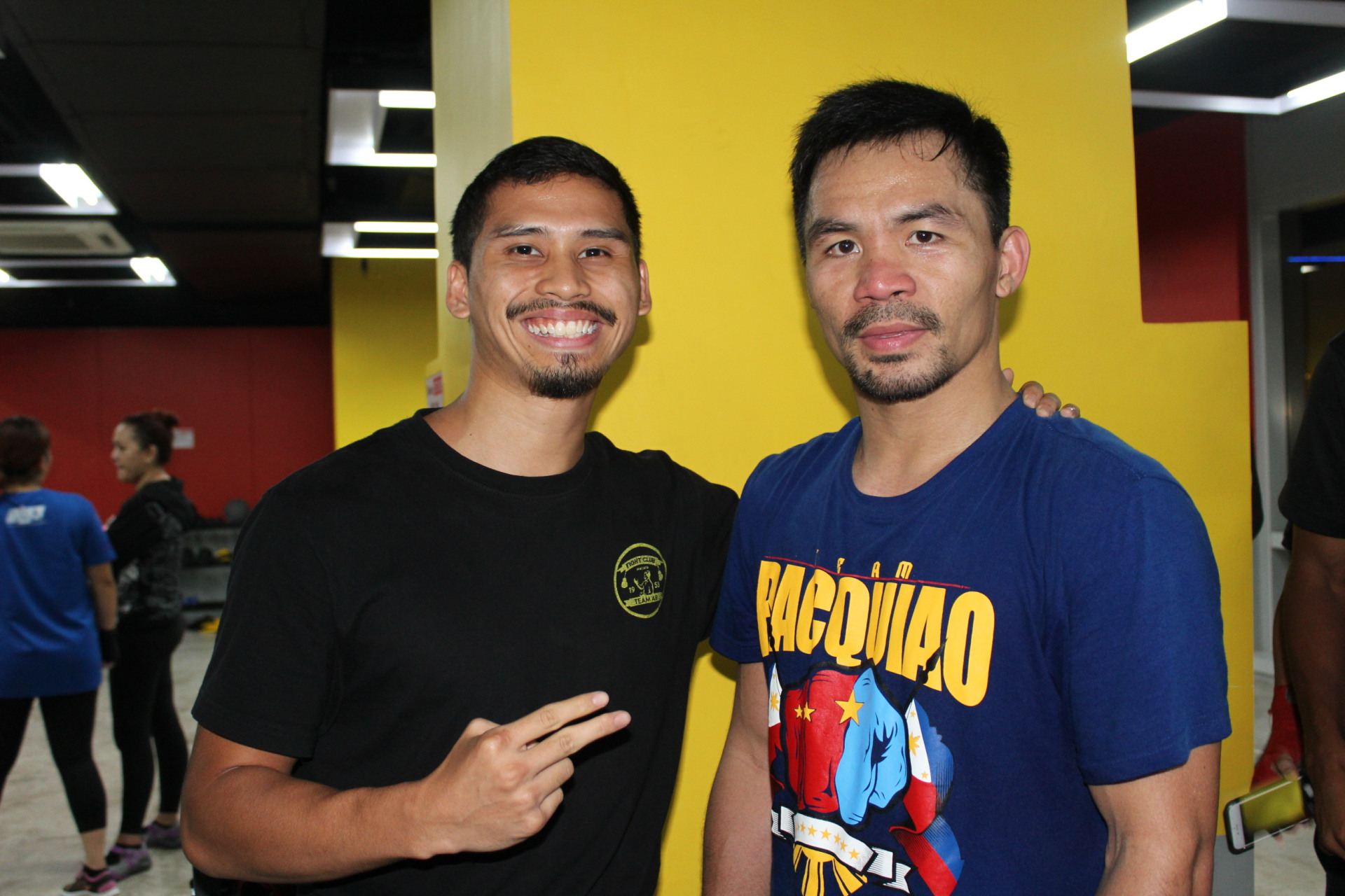 Professional Boxer Aiman AB with Legend Manny Pacquiao