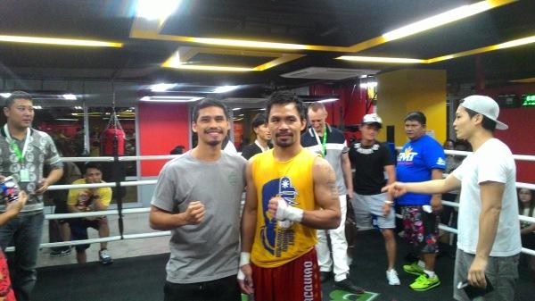 Aiman Abu Bakar and Senator Manny Pacquiao