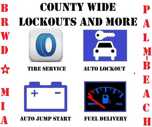 county wide auto lockouts, jump starts, fuel delivery