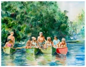 "Floating Memories .watercolor. 13 1/2""x10 1/2"""