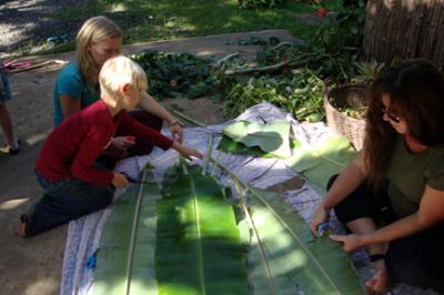 Banana Leaf Plate Making