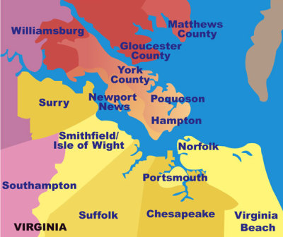 Visual Representation of Hampton Roads Area