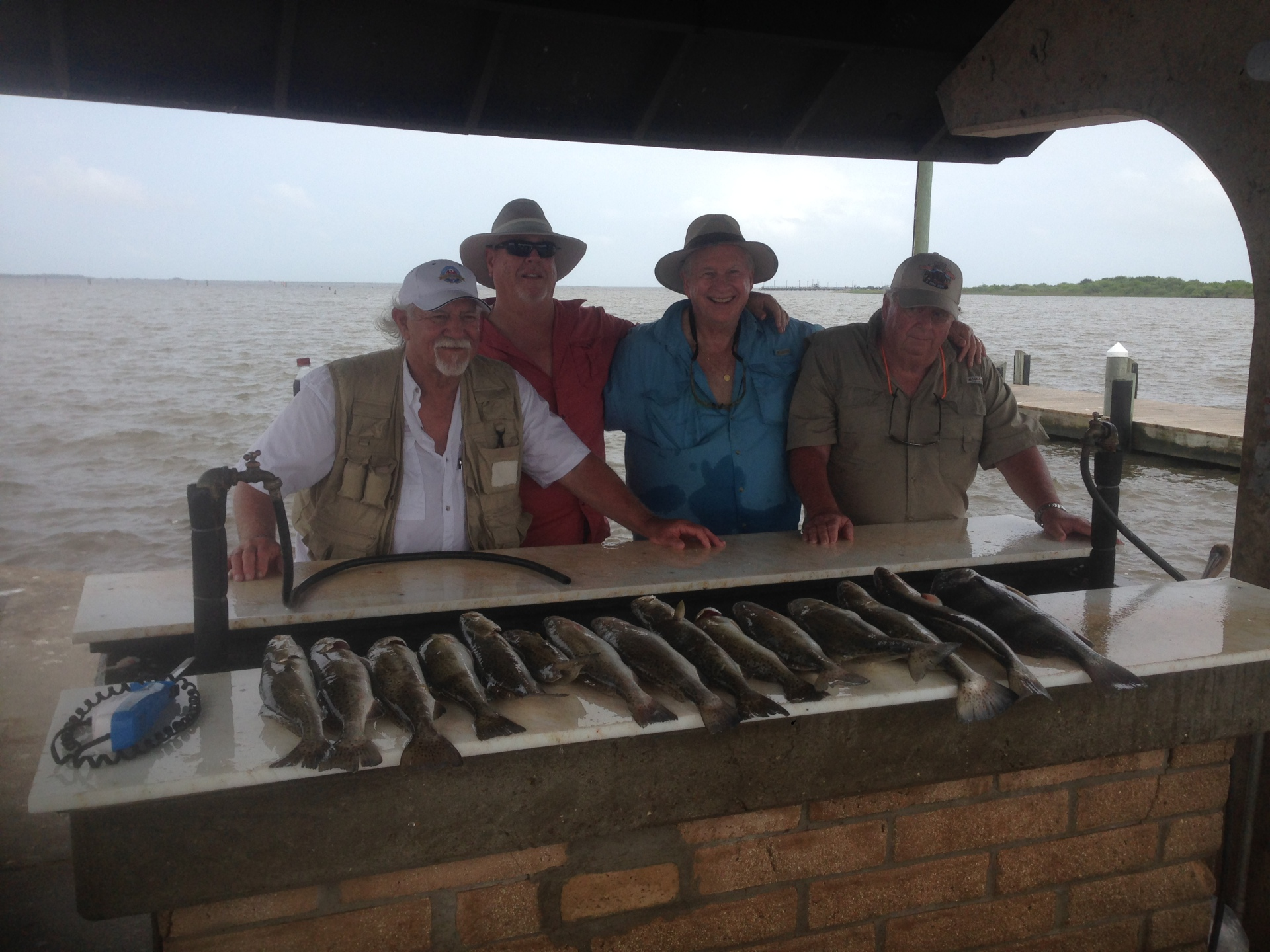trout in the back lakes. fishing guide in rockport texas