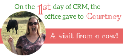 One the 1st day of CRM the office gave to me.....