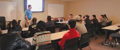 Classroom lecture presents CPR basics