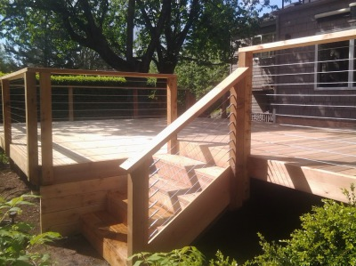 Step Up Deck with Stainless Wires