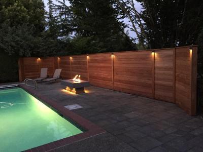 Mahogany Privacy Fence