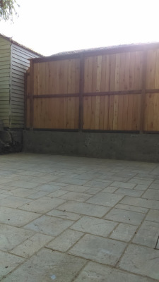 Pavers with Small Retaining Wall