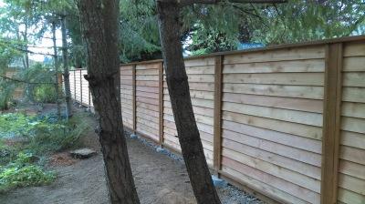 Privacy Cedar Lap Siding Fence