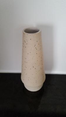 Handmade stoneware flecked vase