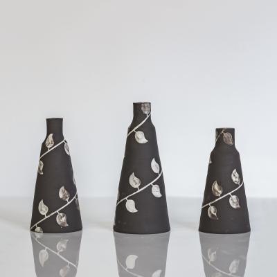 Handmade leaf vases