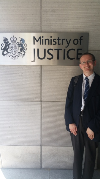 Professor Hall at the Ministry of Justice