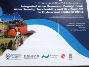 Nathan Cooper WaterNet Symposium in Gaborone