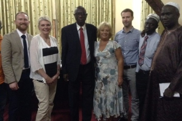 Dr Nathan Cooper's visit to The Gambia