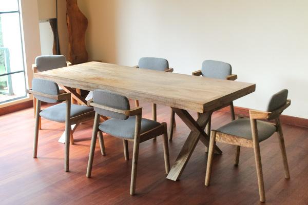 Lark Dining Chair + Cross Dining Table
