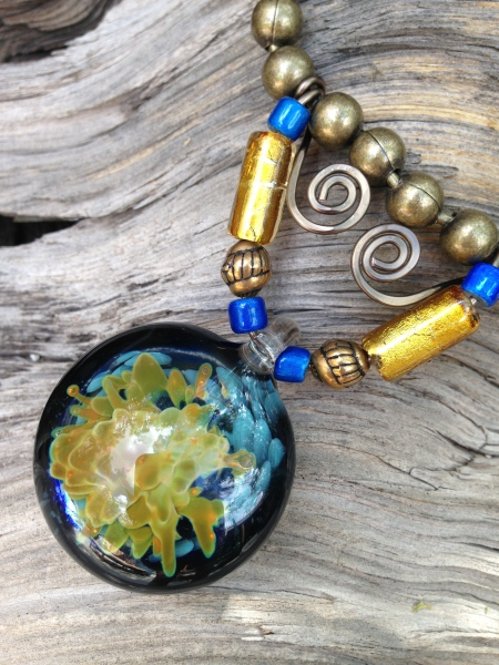 Blue/Gold Necklace