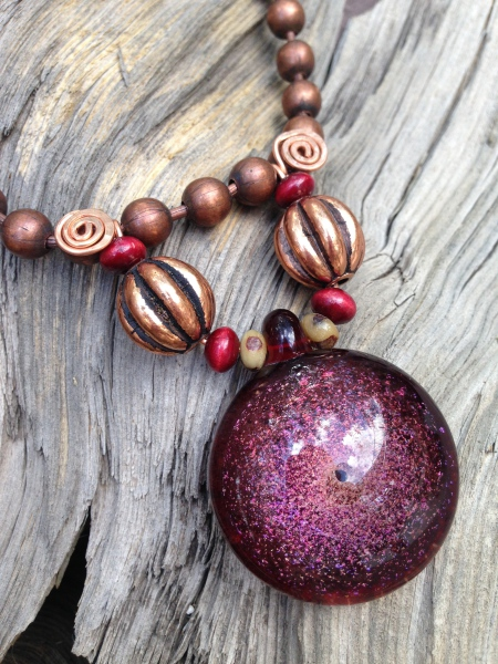 Red Galaxy Necklace