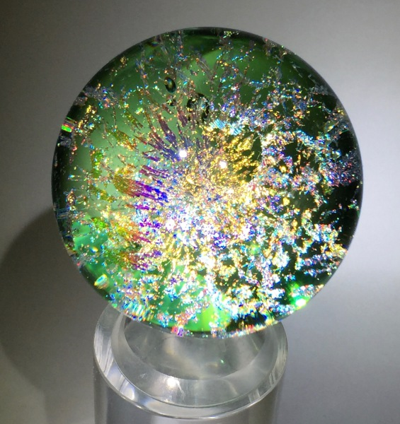 Emerald Galaxy Marble