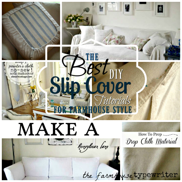 How to add affordable farmhouse style to your home with easy slipcover transformations