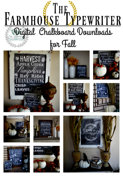 the farmhousetypewriter's digital download prints for fall
