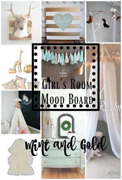 mood board for little girl's room