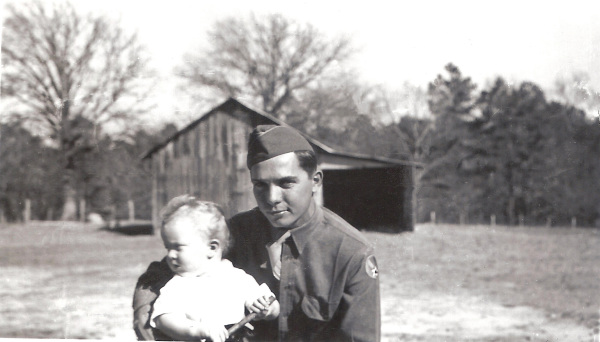 Uncle Glenn & I on Pappy's farm