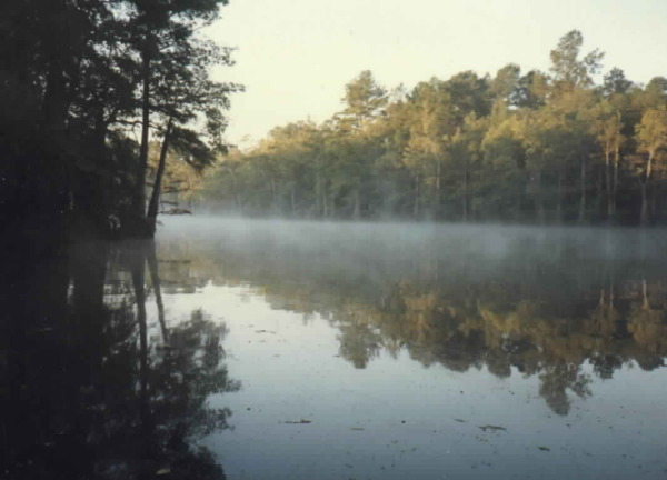 Monterey Lake at the family camp near Vivian, Louisiana