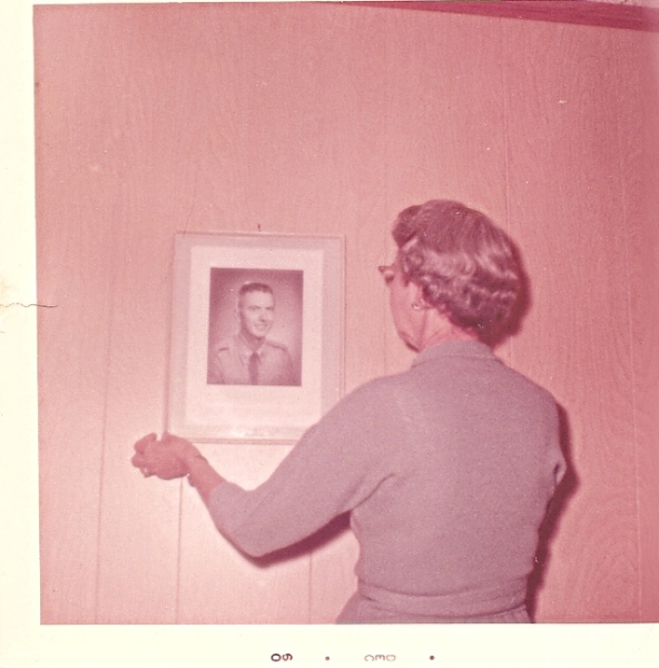 My mom and a picture of me